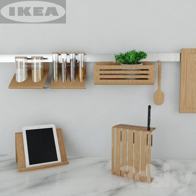 3d Models Other Kitchen Accessories Ikea Kitchen Set Rimforsa
