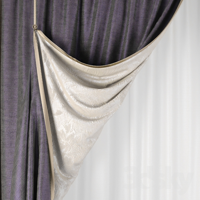 Double Sided Drapes : D models curtain double sided