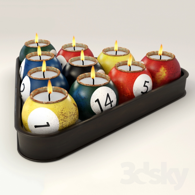 D models other decorative objects ball candle holder