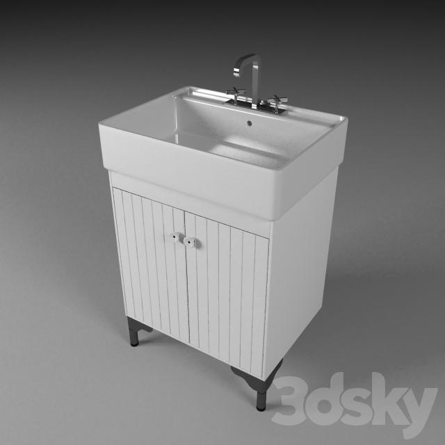 3d Models Bathroom Furniture The Cabinet Under The Sink