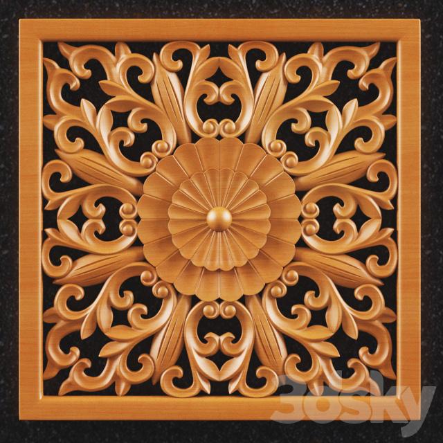 3d wood carving models