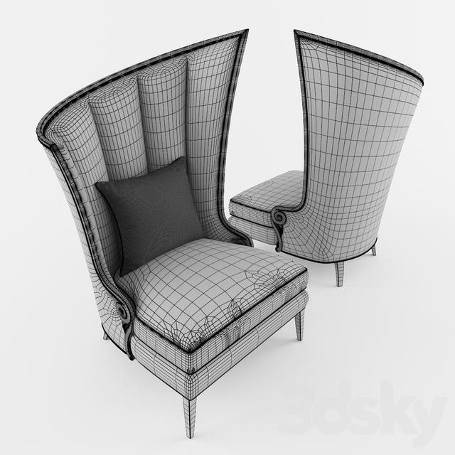 3d Models Arm Chair Armchair Courbure Droite