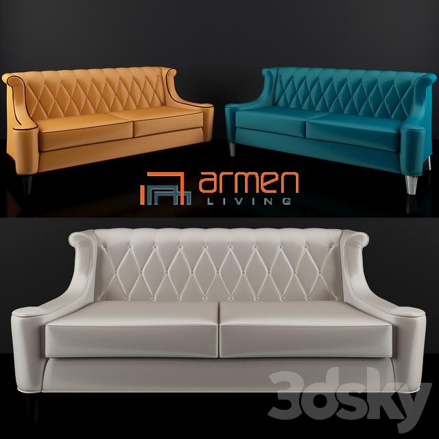 Armen Living Barrister Velvet Sofa