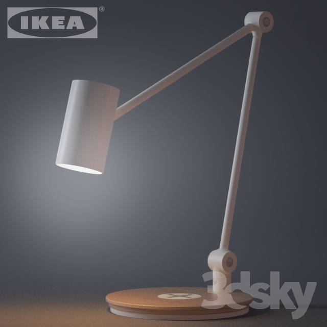 3d models table lamp ikea riggad work lamp with wireless charging. Black Bedroom Furniture Sets. Home Design Ideas