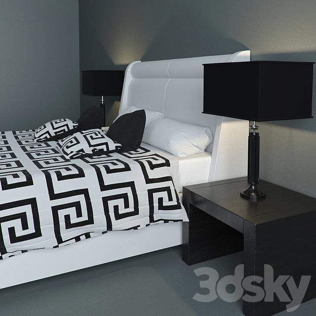 3d models bed versace bed set