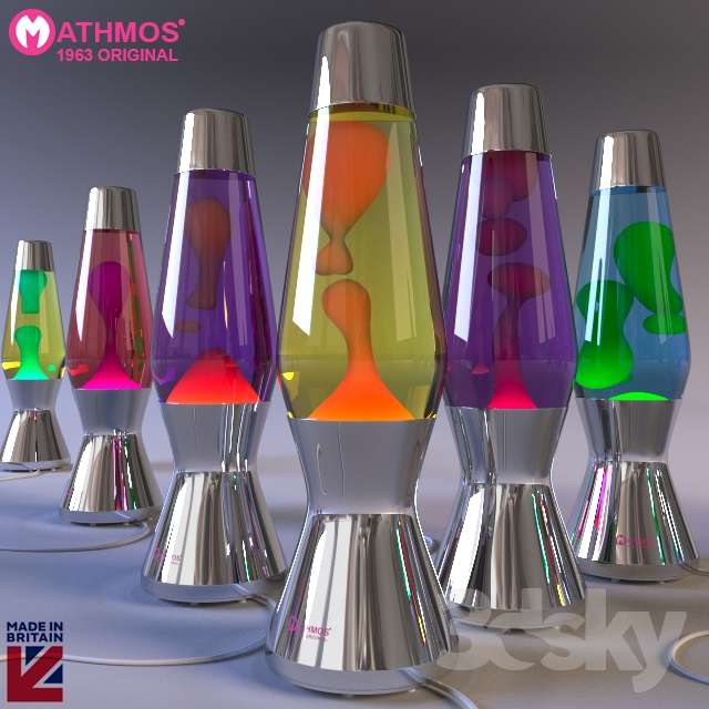 3d models table lamp lava lamp mathmos astro