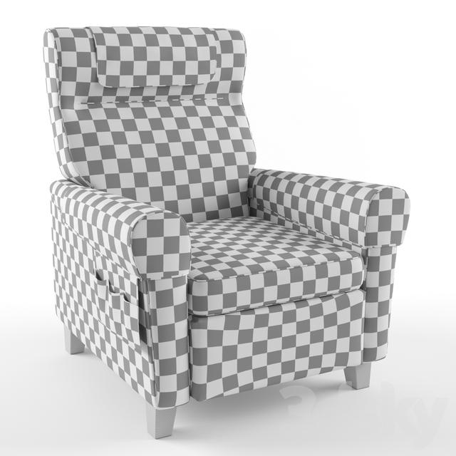 3d Models Arm Chair Muren Recliner By Ikea