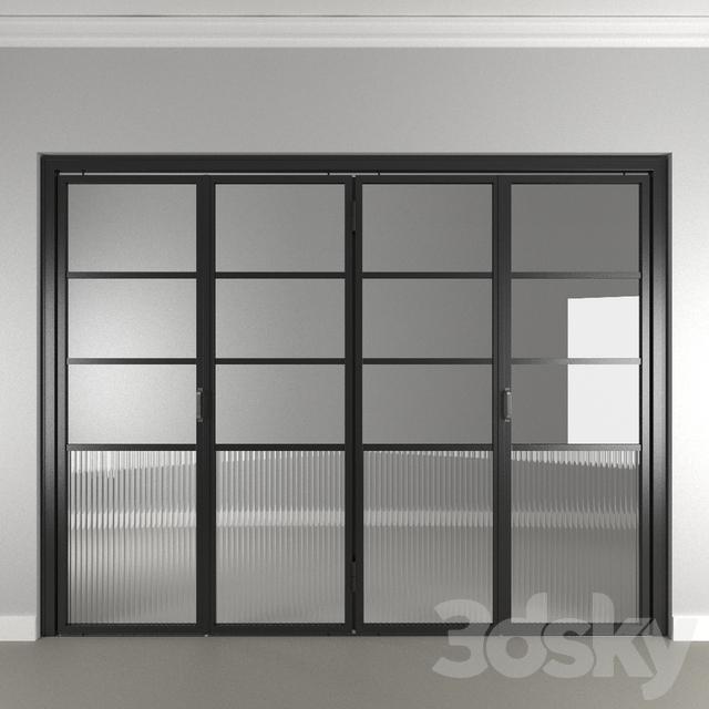 3d models: Doors - SLIM FRAME folding door MOD 02