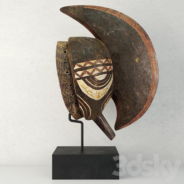 Bobo Mohawk Mask Headcrest on Stand