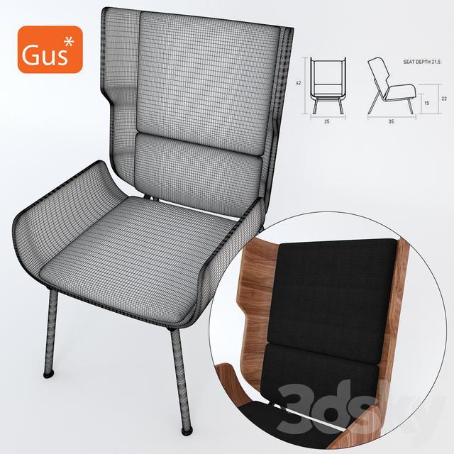 3d Models: Arm Chair   Gus Modern Elk Chair