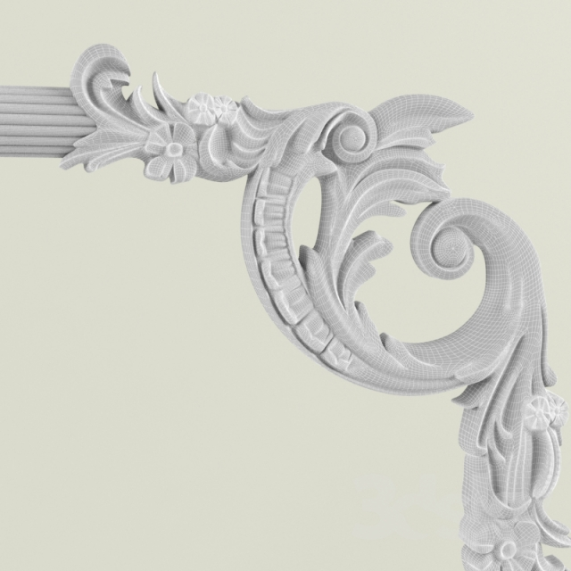3d models decorative plaster wall decor for Plaster wall art