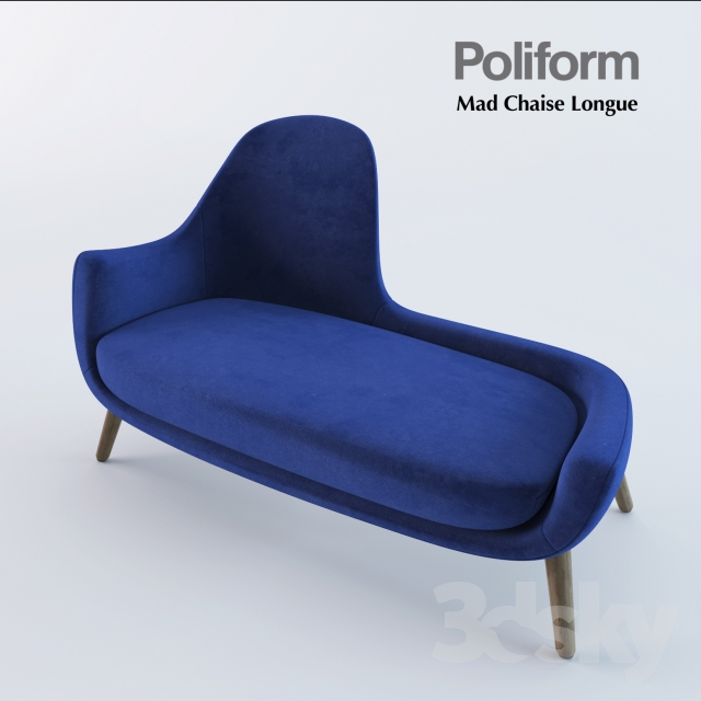 3d Models Other Soft Seating Poliform Mad Chaise Longue
