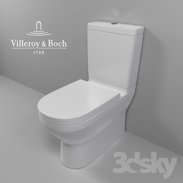3d models toilet and bidet villeroy boch. Black Bedroom Furniture Sets. Home Design Ideas
