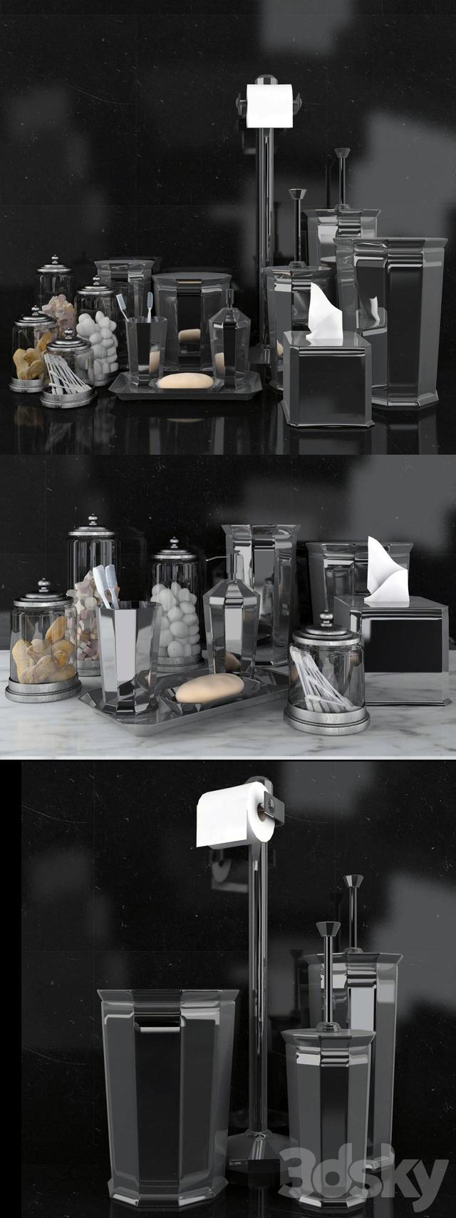3d Models Bathroom Accessories Rh Faceted Metal Accessories