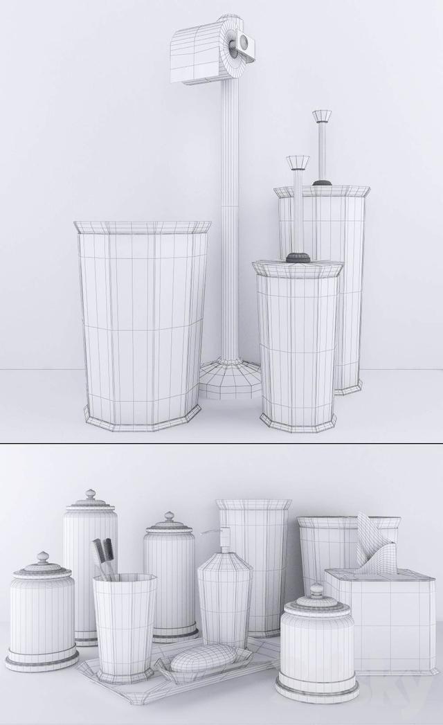 3d models bathroom accessories rh faceted metal accessories for Restoration hardware bathroom accessories
