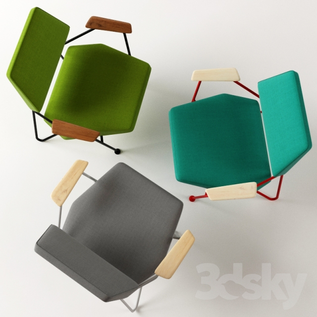 3d Models Arm Chair Chair Of The Polygon Prostoria