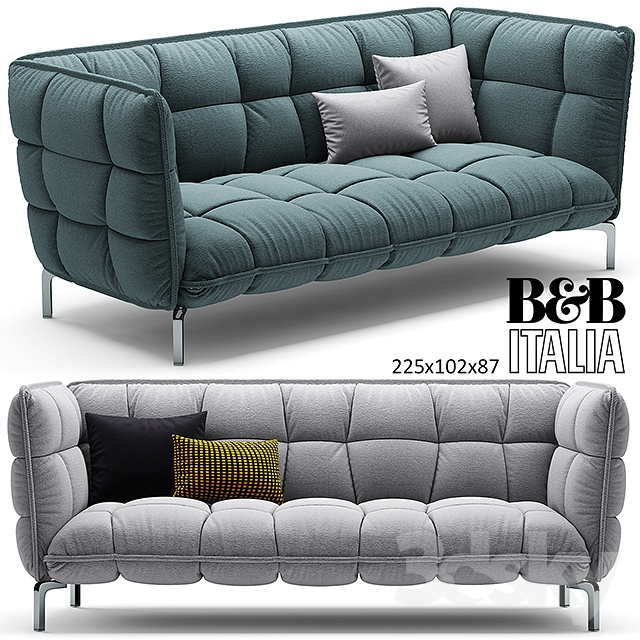 3d models sofa sofa husk sofa b b italia 225. Black Bedroom Furniture Sets. Home Design Ideas
