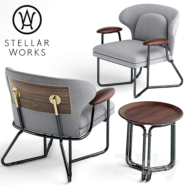 3d Models Arm Chair Armchair Stellar Works Chillax