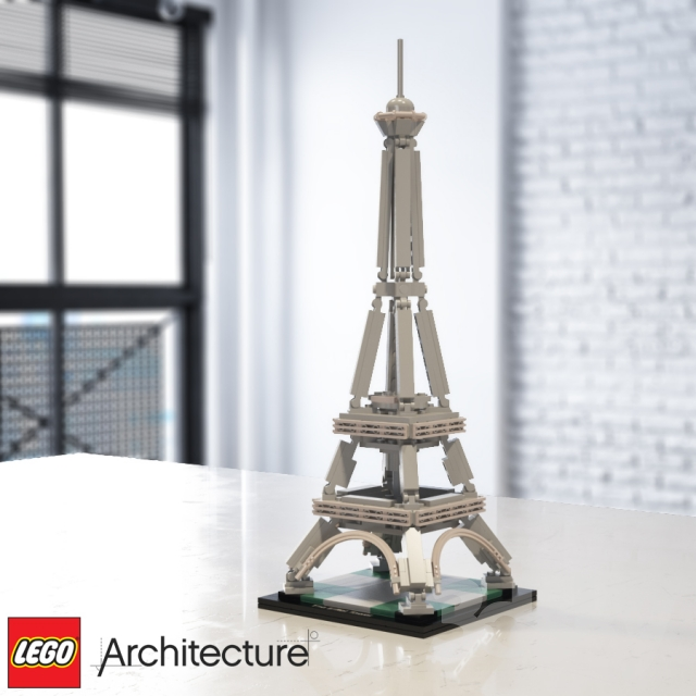 3d models toy lego architecture the eiffel tower 21019 for Eiffel architect