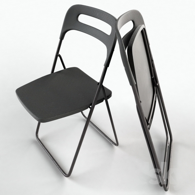 3d models Chair NISSE Folding chair IKEA