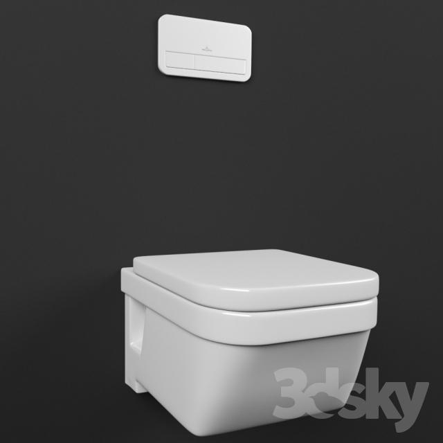 The Toilet And Flush On Villeroy Boch