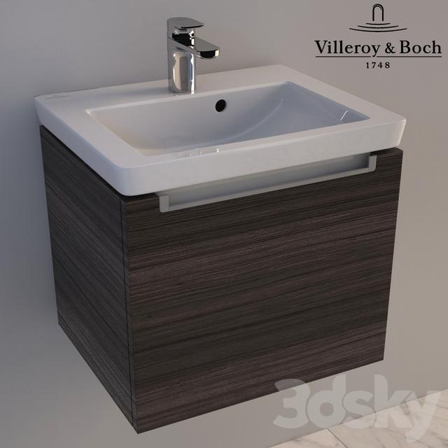 3d models wash basin washbasin villeroy boch subway 2. Black Bedroom Furniture Sets. Home Design Ideas