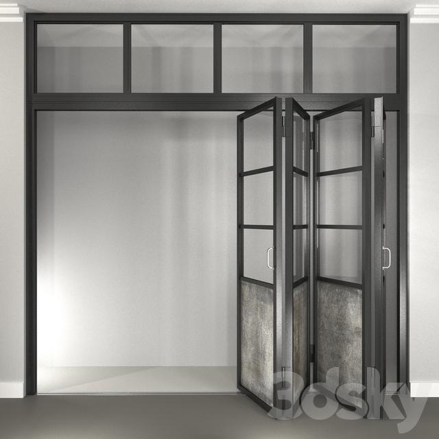 3d models doors steel folding door for Door 3d model