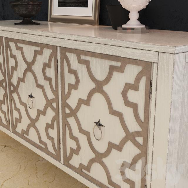 Superior 3d Models: Sideboard U0026 Chest Of Drawer   Hooker Furniture Melange Miranda  Credenza