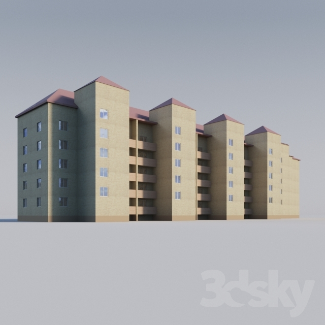 3d Models Building Apartment Brick House