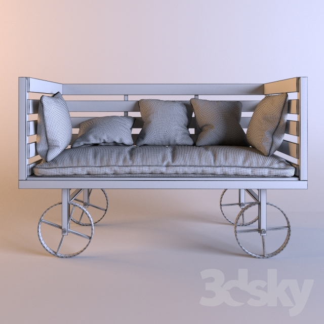 3d models sofa rise only vintage industrial style sofa. Black Bedroom Furniture Sets. Home Design Ideas