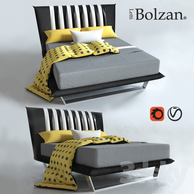 3d models: Bed - Bed Bolzan Letti