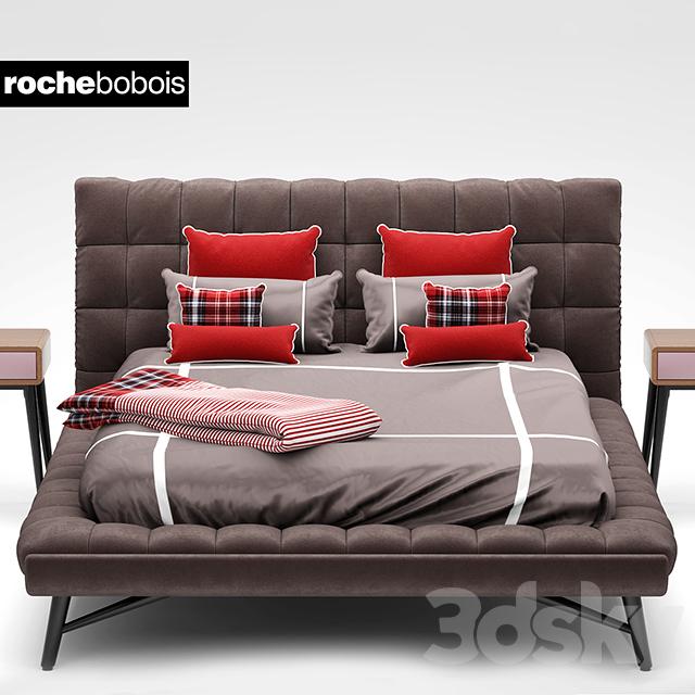 3d models bed bed roche bobois lit bed profile. Black Bedroom Furniture Sets. Home Design Ideas