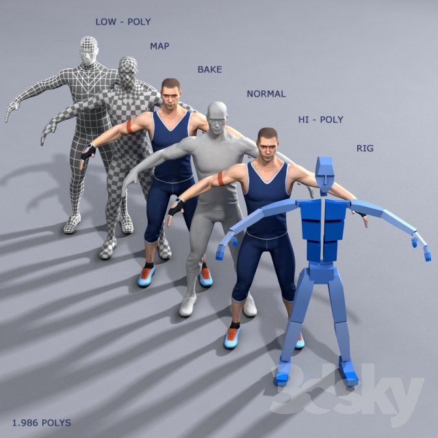 3d models: Creature - Athlete 1