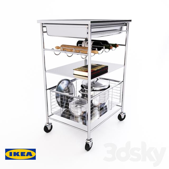 3d models other kitchen accessories table ikea grundtal. Black Bedroom Furniture Sets. Home Design Ideas