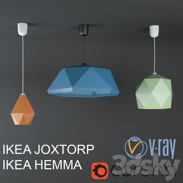 3d models: Ceiling light - Ikea Yukstorp