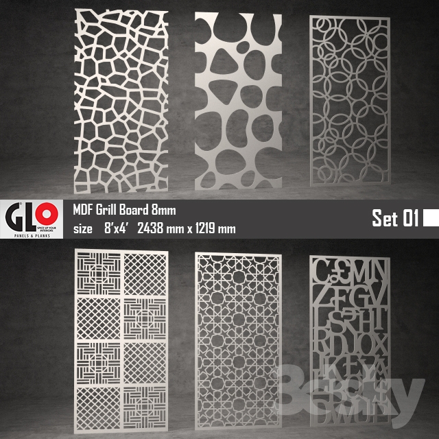 3d Models Other Decorative Objects Glo Mdf Board 8mm Set 01