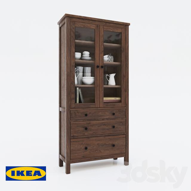 3d models wardrobe display cabinets wardrobe showcase ikea hemnes. Black Bedroom Furniture Sets. Home Design Ideas