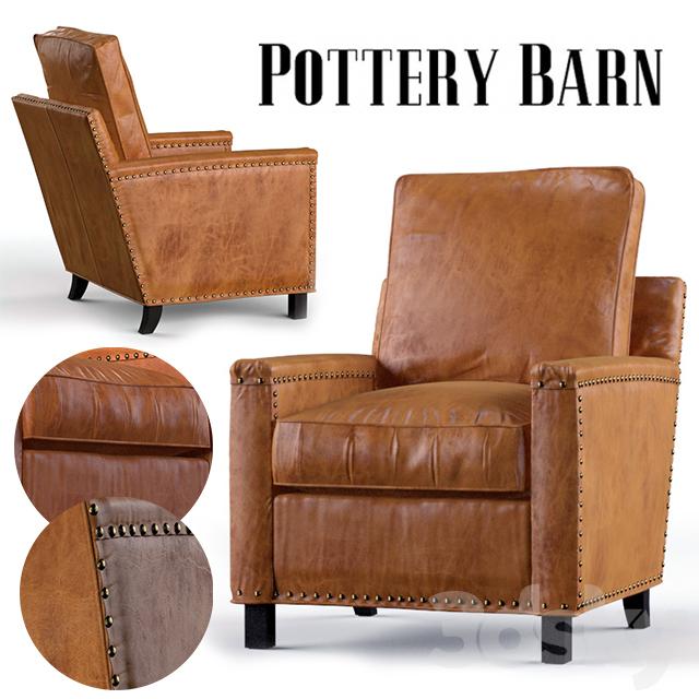 Tyler Leather Armchair | Pottery Barn