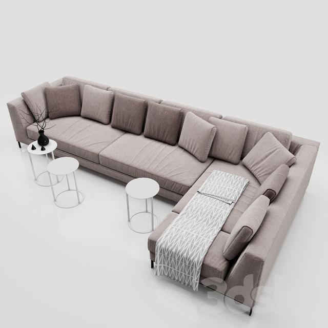 3d models sofa sofa b b italia ray. Black Bedroom Furniture Sets. Home Design Ideas