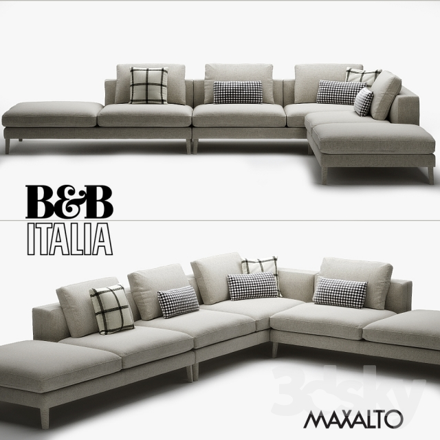 3d models sofa b b italia maxalto dives. Black Bedroom Furniture Sets. Home Design Ideas