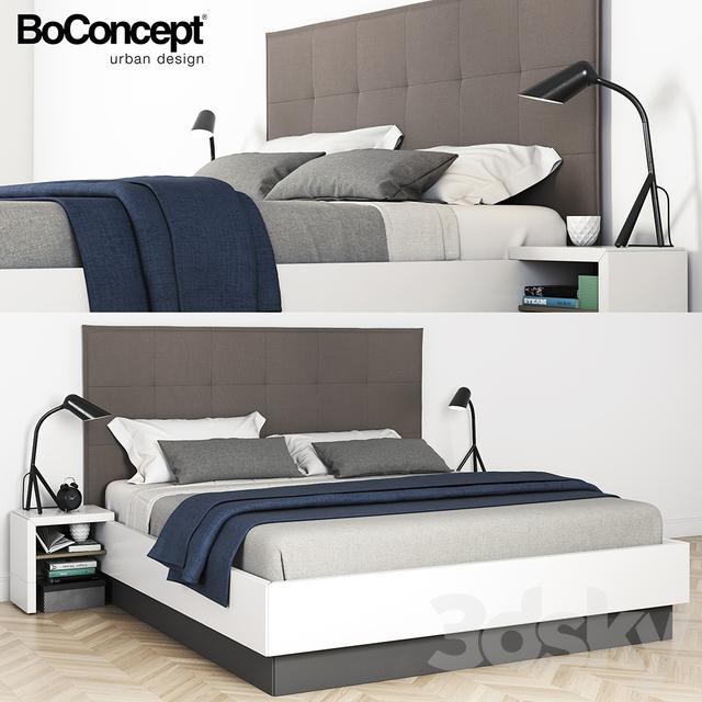 3d models bed boconcept lugano bed. Black Bedroom Furniture Sets. Home Design Ideas