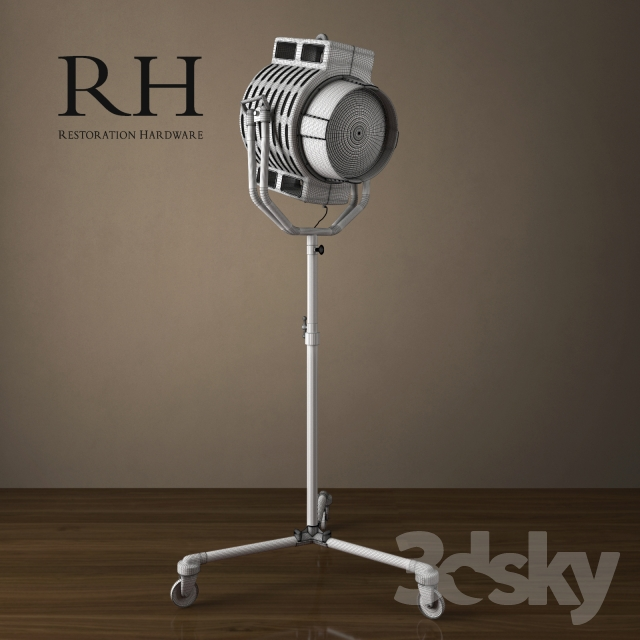 3d models floor lamp 1940s hollywood studio floor lamp