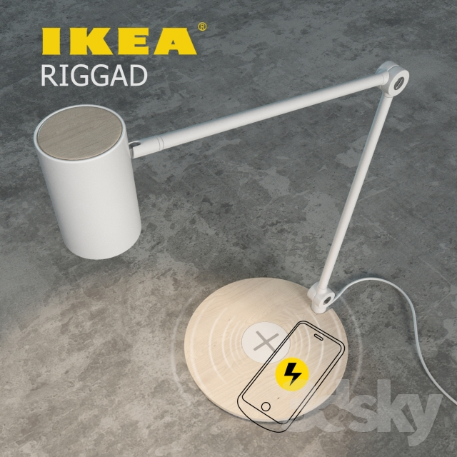 3d Models Table Lamp Ikea Riggad