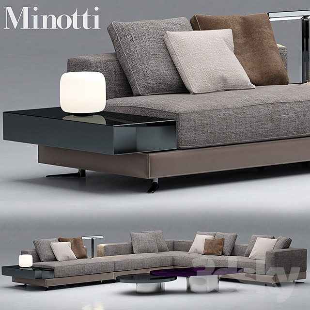 Terrific 3D Models Sofa Sofa Minotti Sofas White Caraccident5 Cool Chair Designs And Ideas Caraccident5Info