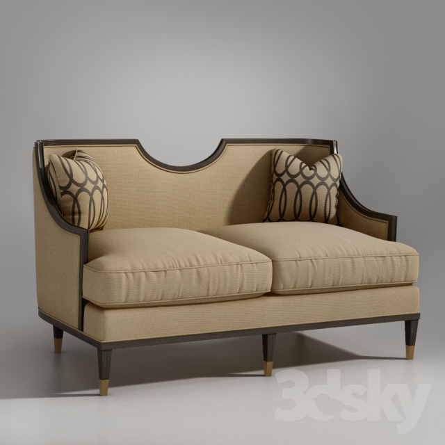 Art Furniture Harper Mineral Loveseat