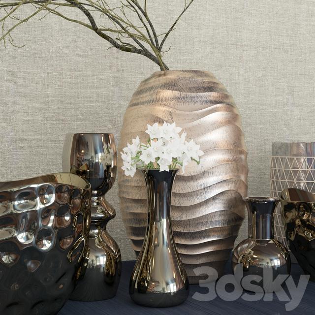 3d Models Vase Decor Set Kelly Hoppen 4 Decorative Set