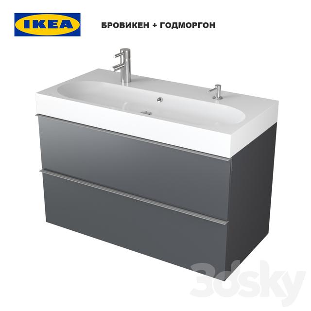 3d Models Bathroom Furniture Ikea Br Viken Godmorgon