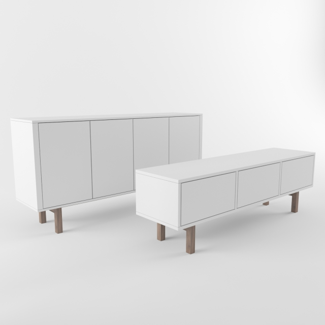 Sideboard Ikea 3d models sideboard chest of drawer ikea stockholm sideboard rtv