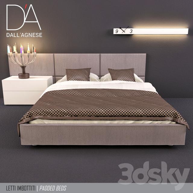 3d models bed bed teenager dallagnese square and sommier. Black Bedroom Furniture Sets. Home Design Ideas