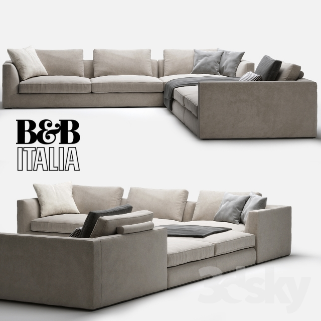 3d models sofa b b italia richard. Black Bedroom Furniture Sets. Home Design Ideas